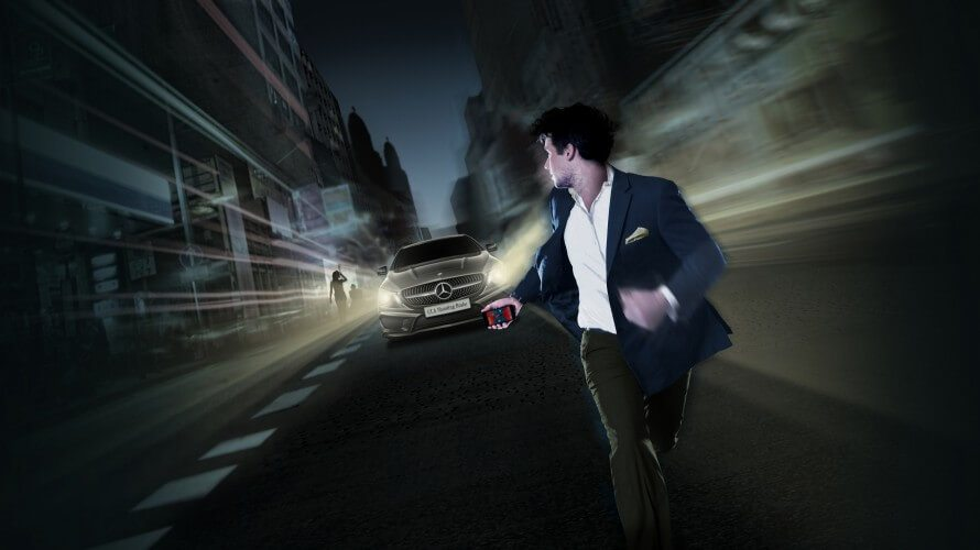 JEFF organisierte für Mercedes Benz eine Gross. Stadt. Jagd. BTL Werbung, Marketing, Eventpromo