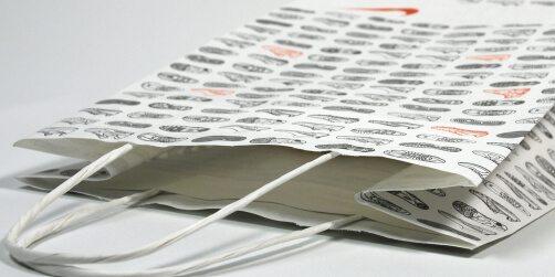 Papierkordeltasche ohne Umschlag