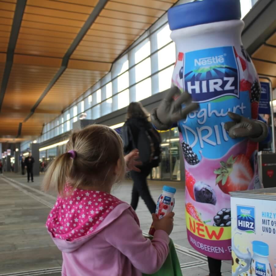 Promotion Agentur Spool - Hirz Yoghurt für Gross und Klein