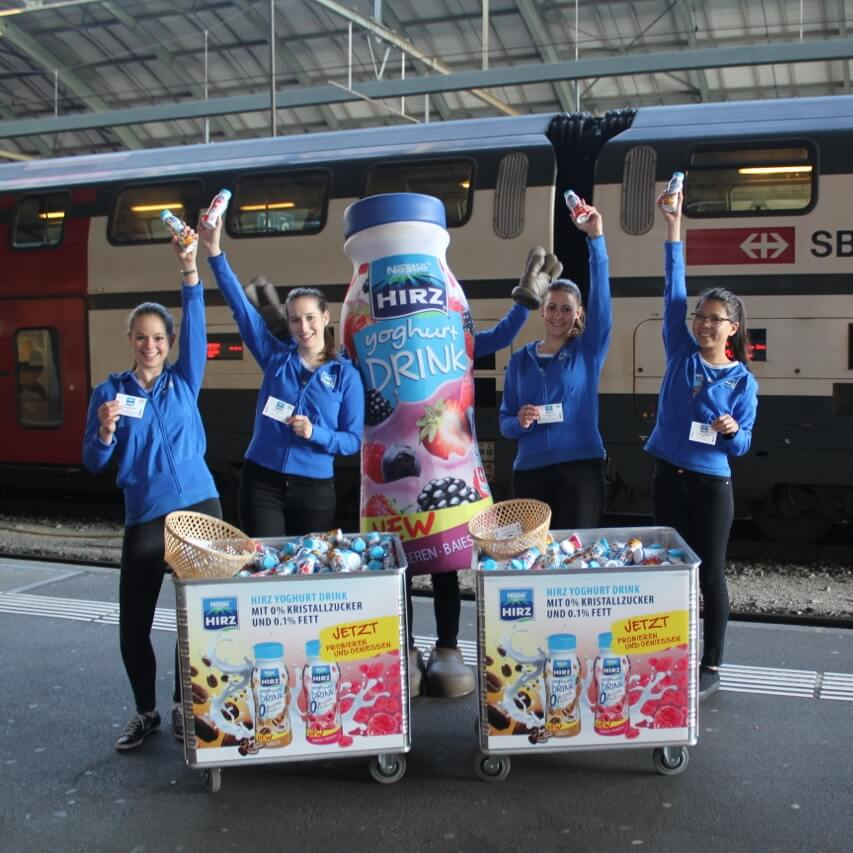 Promotion Agentur Spool - Hirz Yoghurt Promotion Team