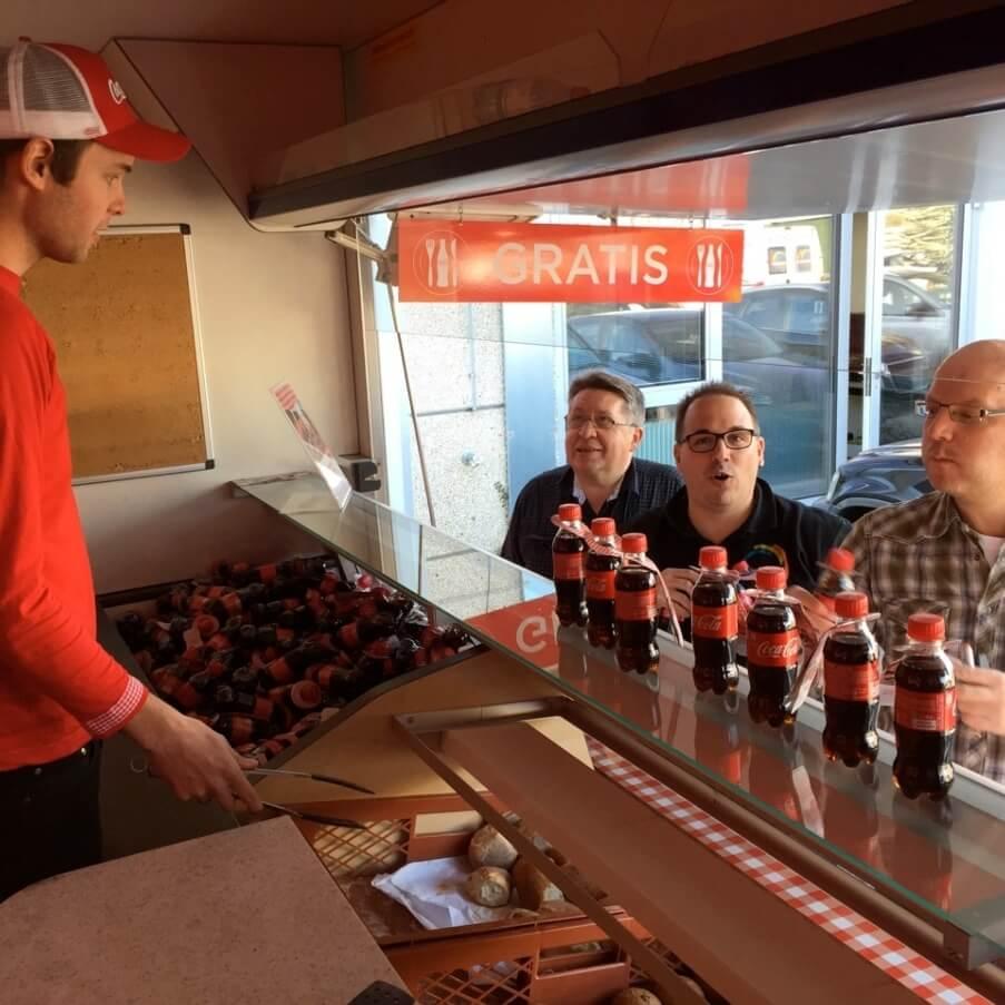 Promotion Agentur Spool - Coca Cola und Brötchen