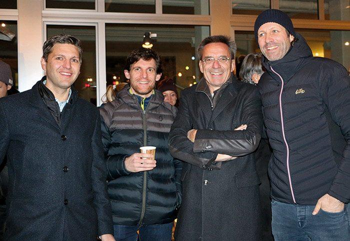 v.l.n.r.: Christian Zemp, Roy Bruderer, Hans-Ulrich Lehmann, Joko Vogel