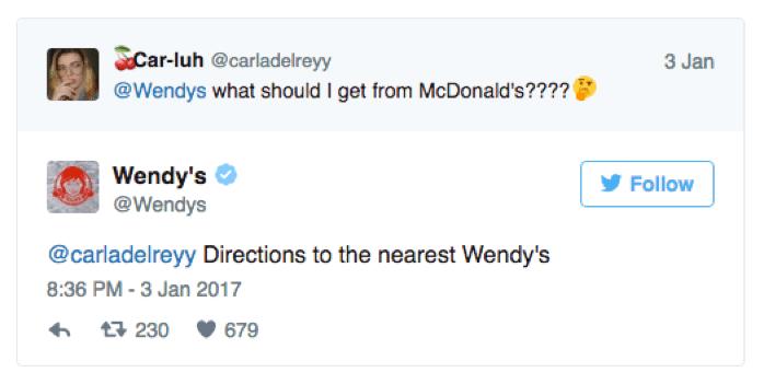 Wendys kontert gegen McDonald's Aussage