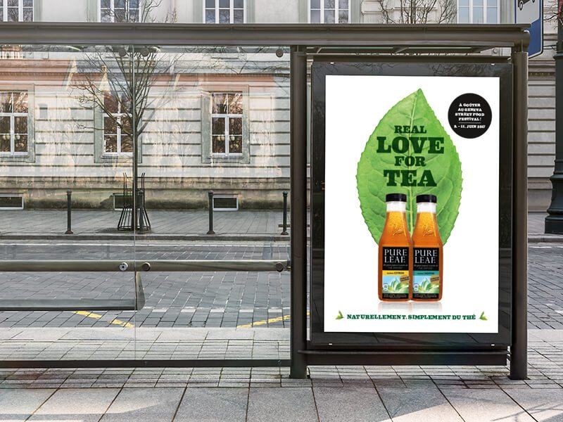 Plakatkampagne Pure Leaf Iced Tea