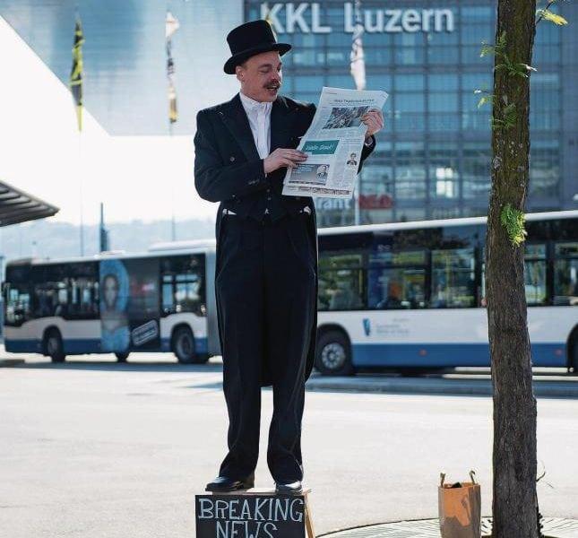 Zeitung, Schauspieler Promotion Agentur
