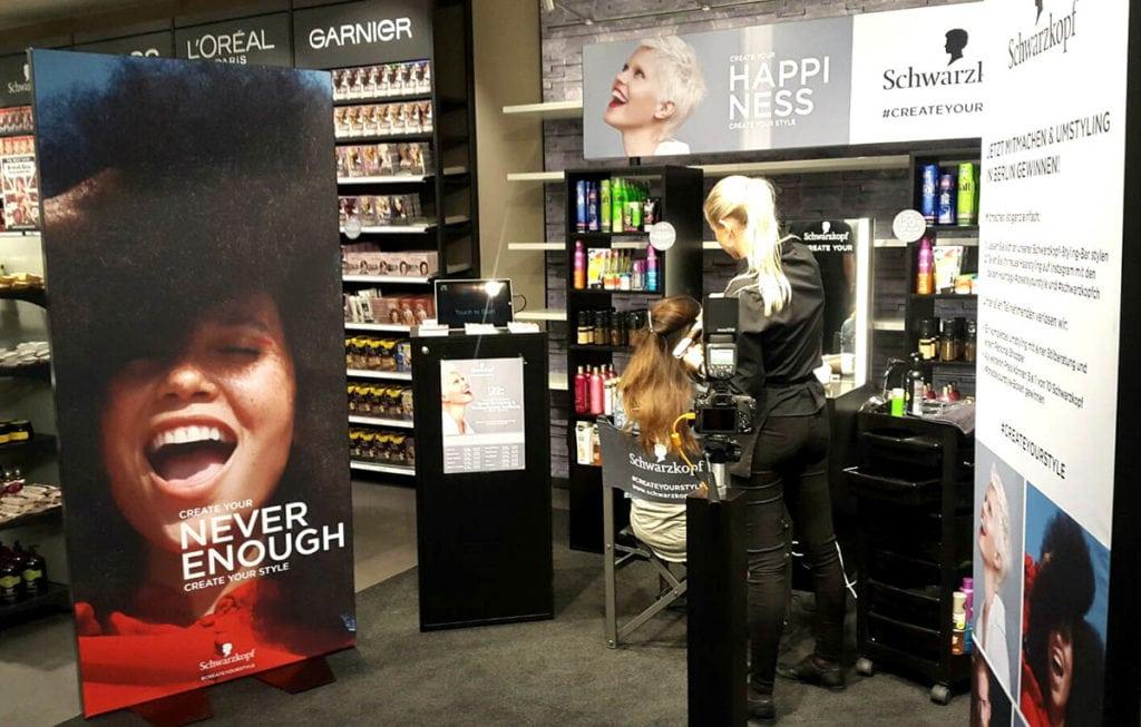 in store promotion schwarzkopf agentur coiffeur
