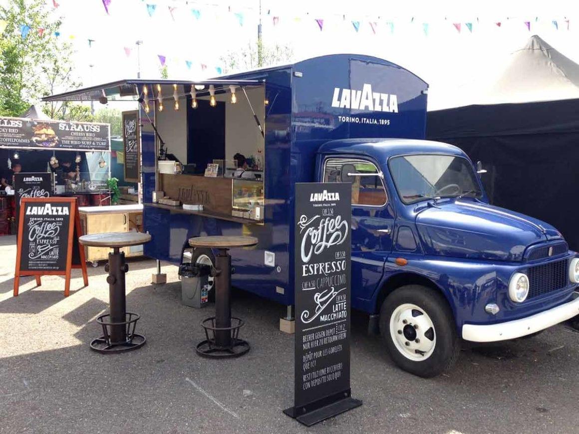 Lavazza-Kaffeefahrzeug-Promotionsagenturen-USP-Partner-