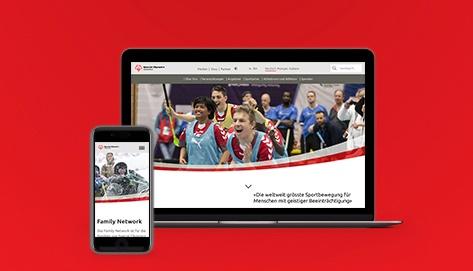 behindertengerechte Website für Special Olympics