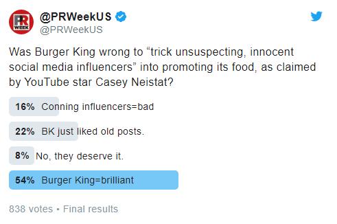 guerilla marketing twitter burger king umfrage